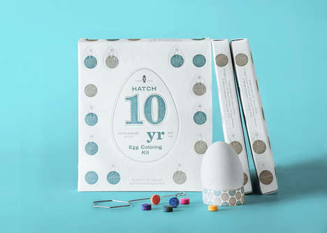 Celebratory Easter Kits - This Set Commemorates a Decade of Easter Egg Decorating Kits from Hatch
