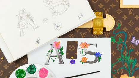 Hand-Painted Luxury Trunks - Louis Vuitton Trunks May Now Be Personalized with 'Mon Monogram'