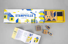 Architectural Stamp Sets - The 'Stampville' Set of Stamps Inspires the Creation of 2D Villages