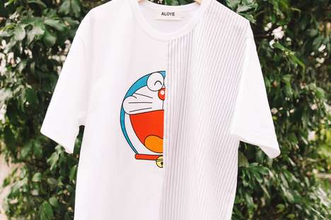Japanese Cartoon-Covered Apparel - ALOYE Teamed Up with Doraemon for an Exclusive BEAMS T Collection