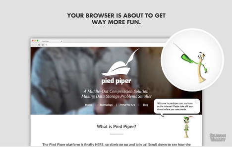 Fictional Tech Company Plug-Ins - The Pipey Browser Extension Pays Homage to Microsoft's Clippy