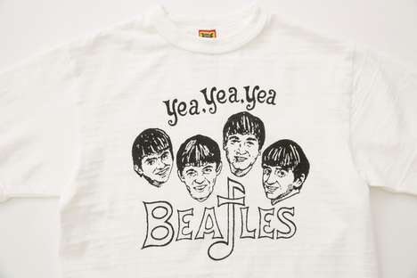 Classic Rock Band-Inspired Shirts - This New HUMAN MADE Collection Honors the Beatles