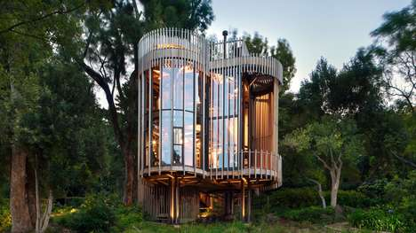 Cylindrical Tree Houses - Malan Vorster's Paarman Treehouse Gives Panoramic Forest Views