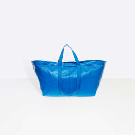 Cheap Chic Tote Bags - Balenciaga's Carry Shopper L is Inspired by IKEA's Classic Tote Bag