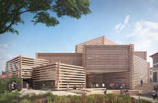 Slatted Wooden Art Museums