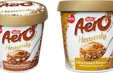 Premium Chocolate Brand Desserts - The Nestle Aero Heavenly Chocolate Mousses are Upscale
