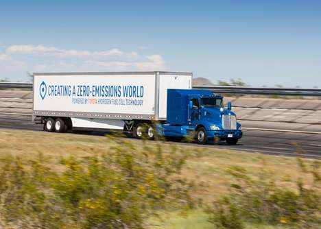 Zero-Emissions Hydrogen Trucks - This Big Rig Truck was Retrofitted by Toyota to Run on Hydrogen