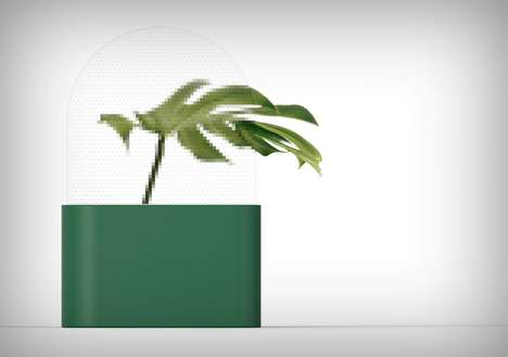Pixelated Screen Vases - The 'Pixel' Plant Vase Blurs the Image of Greenery to Look Technological
