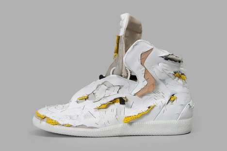 Shredded Couture Sneakers - The Maison Margiela Future High-Top was Destroyed for Spring/Summer 2017