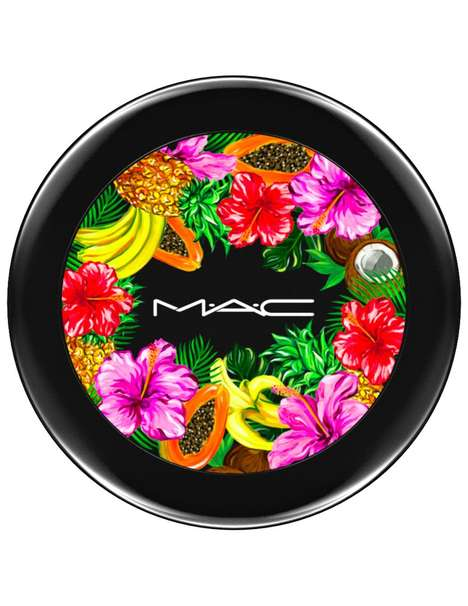 Tropically Branded Makeup Collections - MAC's New 'Fruity Juicy' Line Features Bold Summery Artwork