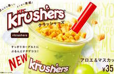 Crumble-Topped Yogurt Drinks - The KFC Japan Krushers Aloe & Muscat is a Sweet Drink with Texture
