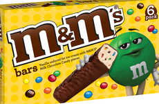 Frozen Candy Confection Bars - The M&M's Frozen Ice Cream Bars Feature Reduced Fat Ingredients
