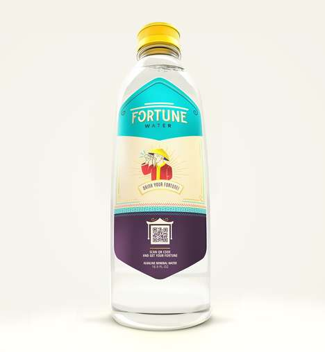 Fortune-Telling Water Bottles - This Bottled Water Product Shares Fortune Cookie Sayings via QR Code
