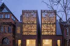 Shimmering Symmetrical Duplexes - 'Double Duplex' Features an Illusive Shining Facade