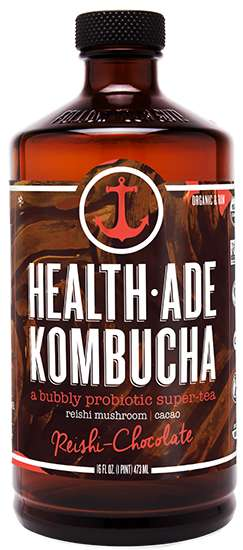 Probiotic Mushroom Beverages - Health-Ade's Newest Kombucha Flavor Blends Cacao and Reishi Mushroom