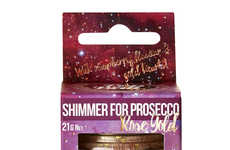 Drinkable Glitter Flakes - The Raspberry Shimmer Popaball Adds Flavor & Edible Sparkles to Prosecco