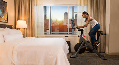 In-Suite Stationary Bikes - Peloton & Westin Hotels are Helping Guests Stay Fit While Traveling