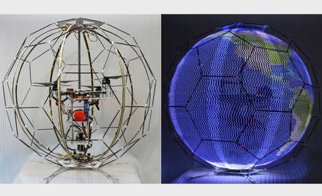Light-Up Spherical Drones - NTT Docomo's Drones Will Populate Powerful Light Shows