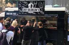 Celebrity Sausage Trucks - Jeff Goldblum Gave Out Free Sausages from 'Chef Goldblum's' Food Truck
