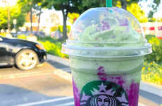 Mythical Creature-Inspired Drinks - The Starbucks Dragon Frappuccino Has a Creamy Green Tea Base