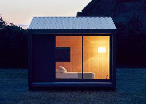 Charred Timber Prefab Houses - The Muji Hut is an Affordable Prefab Cottage