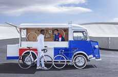 Classic Van Bike Shops - The Citroën Mobile Bike Shop is Housed in a Classic Type H Vehicle