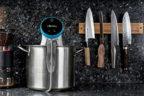 Simple Sous Vide Machines - The Nomiku Sous Chef Offers Prepared Meal Packages