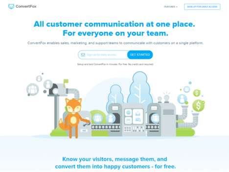 Customer Communication Platforms - The 'ConvertFox' Messaging Software Ensures Organization