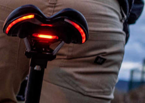 Light-Embedded Bike Seats