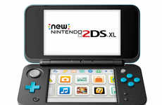 Lightweight Mobile Gaming Systems - The Nintendo 2DS XL Sports Large Screens and a Stylish Design