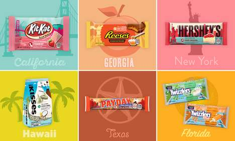 Americana Chocolate Bars - Hershey's 'Flavors of America' Themed Chocolate Bars Celebrate the States