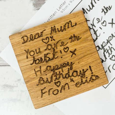 Handwritten Keepsake Coasters