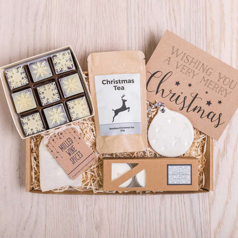 Small-Scale Festive Giftboxes - Letterbox Gifts Curates Items That Will Easily Fit in the Mail