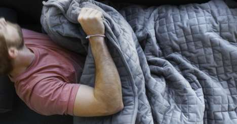 Hefty Sleep-Inducing Blankets - The Gravity Blanket is Weighted to Help Reduce Stress and Anxiety
