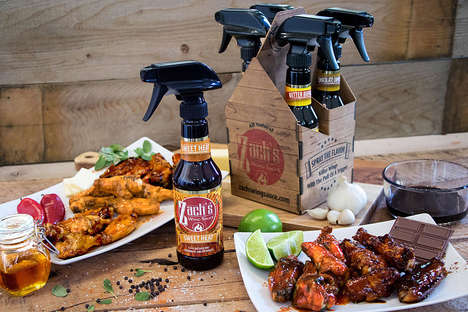 Sprayable BBQ Sauces - Zach's Wing Sauce Introduces a Simple and Clean New Way to Flavor Dishes