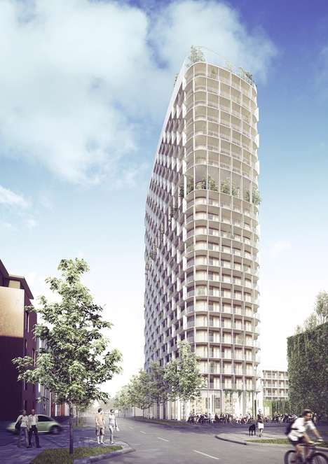 Hybrid Concrete-Wood Towers - C.F. Moller's Vasteras High-Rise Features Solid Wood and Concrete