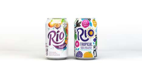 Sugar-Free Tropical Fruit Drinks - Rio Tropical Drinks Have a New, Revamped Visual Brand Identity