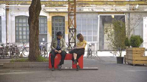Friendship-Forming Bench Stunts - Nescafe's 'Hello Bench' Helps Strangers Break the Ice