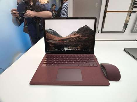 Compact Battery-Preserving Laptops - Microsoft's Surface Laptop Features a Longer Battery Life