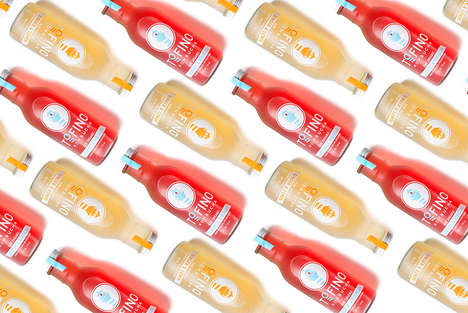 Seaside-Themed Kombucha Branding - These Raw Kombucha Beverages Were Inspired by a Seaside Town