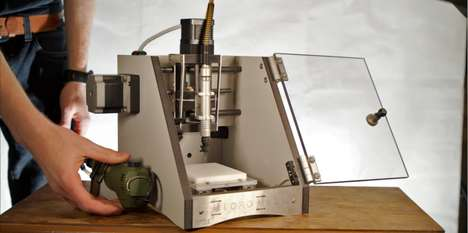 Desktop CNC Milling Machines - The MicroMill is Small Enough to Fit on the Average Office Desk
