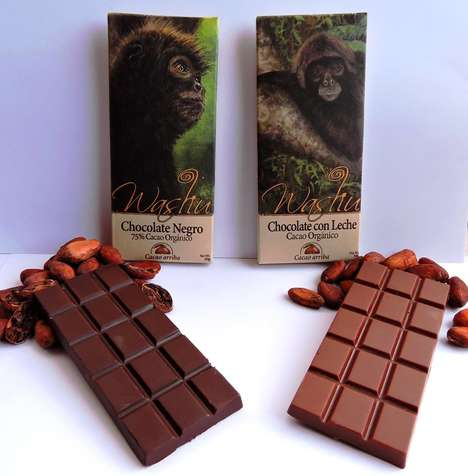 Primate-Saving Chocolate Bars - 'Washu Chocolate' Helps Protect Cocoa Farmers and Monkeys in Ecuador