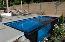 Upcycled Shipping Container Pools