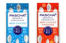 Organic Rice Milk Chocolates - Pascha Organic's New Rice Milk Bars are Organic and Dairy-Free