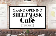 Singular Skincare Shops - MISSHA's 'Sheet Mask Cafe' Offers Affordable Korean Sheet Masks Online