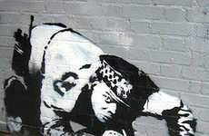 Graffiti Police - Banksy Coke Cop Is An Arresting Example Of Street Art