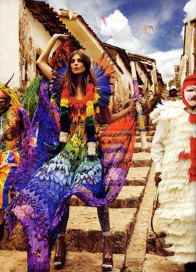 Colorful South American 'Trail Blazers' for Vogue UK
