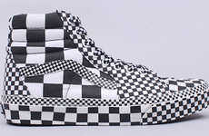 Bold Graphic Sneakers - Vans Sk8 Hi 'All-Over Check' May Cause Seizures