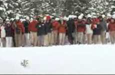 Viral Real-Life Commercials - Verizon Network Heads to the Slopes to Flash Mob a Snowboarder
