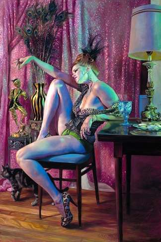 Art Inspired by Call Girls - 'Hooker DreamEscape' Features Strippers, Sparkles & Animals